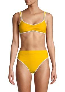 Dolce Vita Contrast-Trimmed Bikini Top