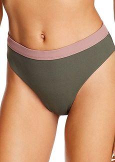 Dolce Vita Banded High-Leg Bikini Bottom