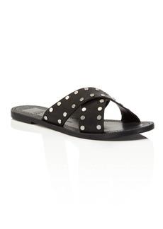 Dolce Vita Casta Leather Studded Slide Sandals