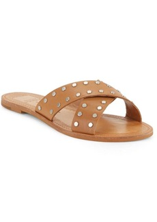 Dolce Vita Casta Studded Leather Slide Sandals
