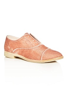 Dolce Vita Cooper Velvet Slip-On Cap Toe Oxfords
