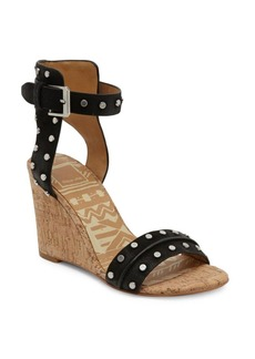 Dolce Vita Dante Leather Wedge Sandals