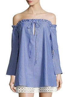 Dolce Vita Delainey Off-the-Shoulder Striped Dress