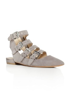Dolce Vita Elodie Buckle Embellished Pointed Toe Flats