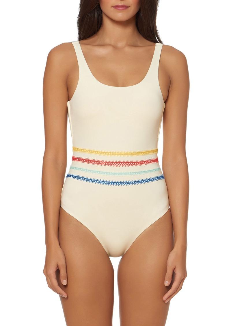 415c053cc9 Dolce Vita Dolce Vita Embroidered One-Piece Swimsuit | Swimwear