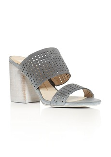 Dolce Vita Esme Perforated High Heel Slide Sandals