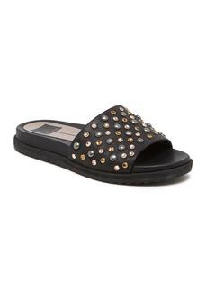 Dolce Vita Gia Embellished Leather Platform Pool Slide Sandals
