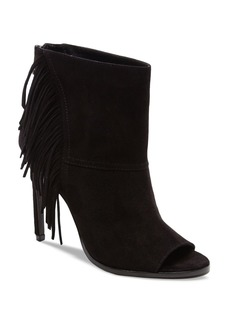 Dolce Vita Hanover Fringe Open Toe High Heel Booties