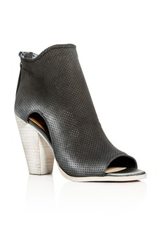 Dolce Vita Harem Perforated Open Toe High Heel Booties