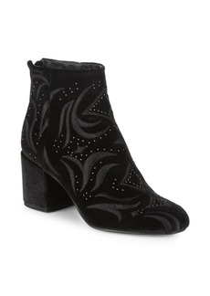 Dolce Vita Ibis Embroidered Velvet Boots