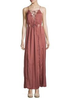 Dolce Vita Kendall Cutout Satin Maxi Dress