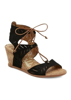 Dolce Vita Langly Leather Wedge Sandals