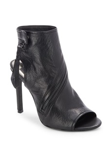 Dolce Vita Leather Stiletto Heel Boots