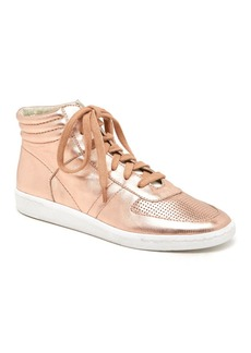 Dolce Vita Nate Metallic Leather High-Top Lace Up Sneakers