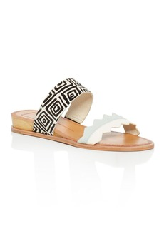 Dolce Vita Pacer Calf Hair Tribal-Print Demi Wedge Slide Sandals