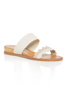 Dolce Vita Pacer Lizard-Embossed Demi Wedge Slide Sandals