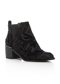 Dolce Vita Preston Velvet Embroidered Booties