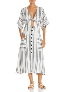 Dolce Vita Scorpion Striped Dress Swim Cover-Up