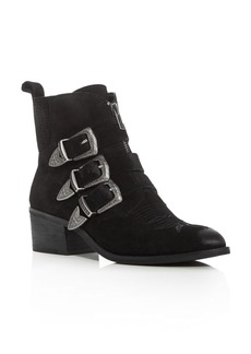 Dolce Vita Scott Buckle Almond Toe Booties
