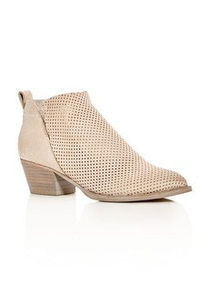 Dolce Vita Sonya Perforated Mid Heel Booties
