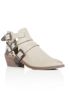 Dolce Vita Spur Pointed Toe Mid Heel Booties