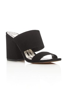 Dolce Vita Two Band Block Heel Slide Sandals