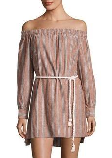 Dolce Vita Vickie Linen-Blend Striped Dress