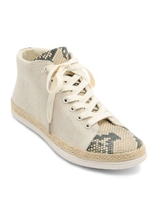 Dolce Vita Women's Akello Canvas & Embossed Leather Sneakers
