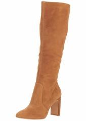 Dolce Vita Women's COOP Knee High Boot dark saddle suede  M US