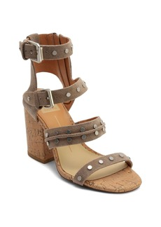 Dolce Vita Women's Eddie Suede High Block Heel Gladiator Sandals