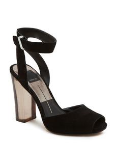 Dolce Vita Women's Hades Suede & Lucite High Heel Sandals