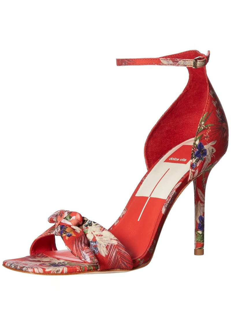 Dolce Vita Women's HELANA Heeled Sandal RED Multi Floral Print  M US