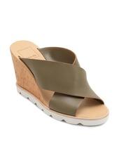 Dolce Vita Women's Lida Leather Wedge Sandals