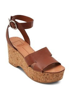 Dolce Vita Women's Linda Leather & Cork Platform Sandals