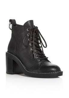 Dolce Vita Women's Lynx Leather Lace Up Block Heel Booties
