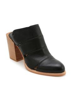 Dolce Vita Women's Makeo Cutout Leather Block Heel Mules