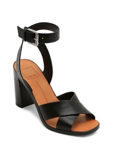 Dolce Vita Women's Nala Block Heel Leather Sandals