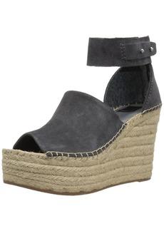 Dolce Vita Women's Straw Wedge Sandal  10 M US