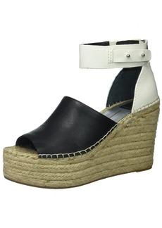 Dolce Vita Women's Straw Wedge Sandal  10 Medium US