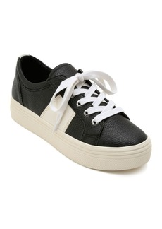Dolce Vita Women's Tavina Leather Lace Up Platform Sneakers