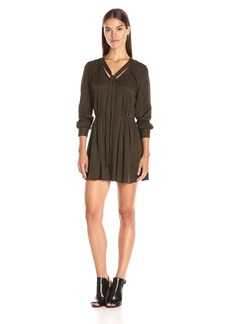 Dolce Vita Women's Textured Cupro Long Sleeve Liz Dress