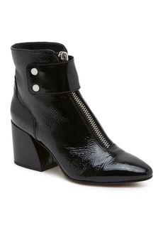 Dolce Vita Women's Varra Patent Leather Zip Block Heel Booties