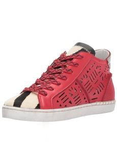 Dolce Vita Women's Zeus Sneaker red Leather  Medium US