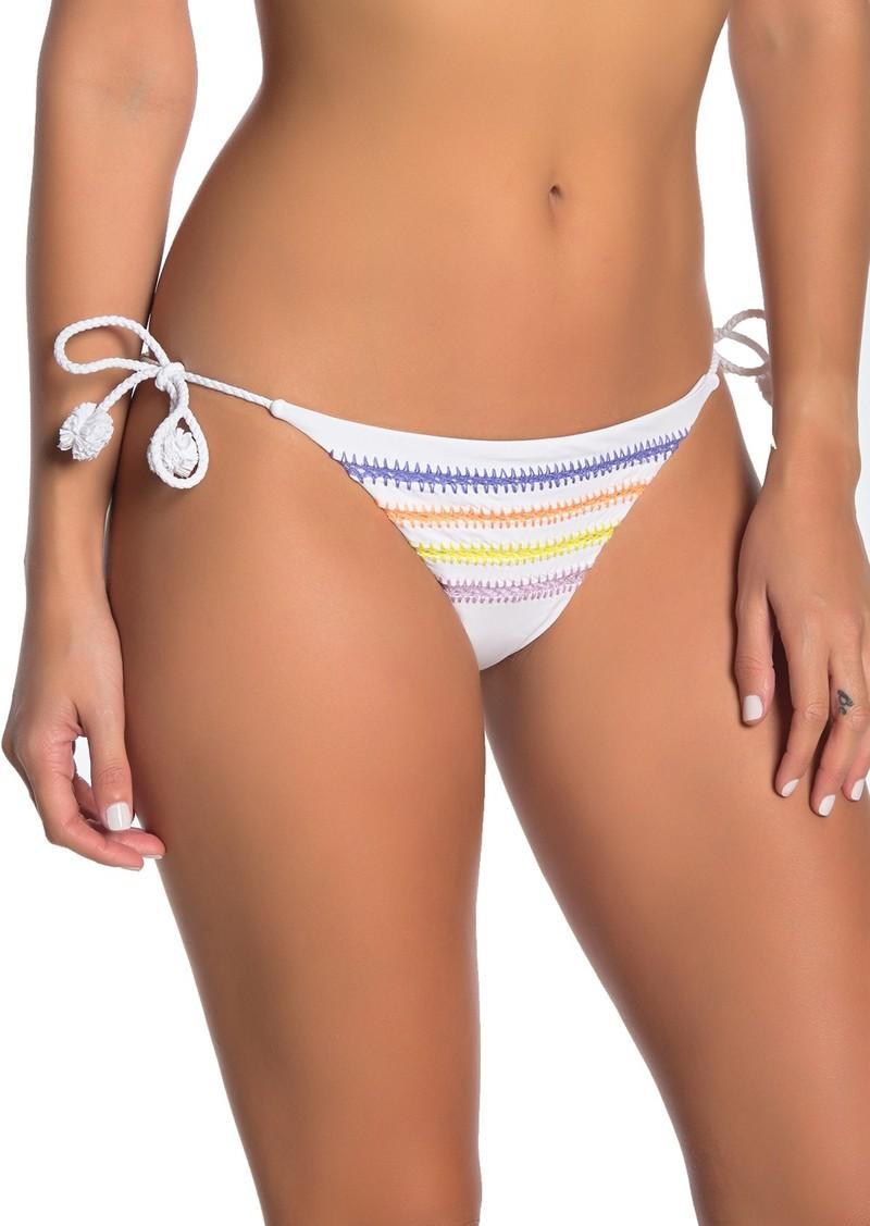 Dolce Vita Embroidered Side Tie Bikini Bottoms