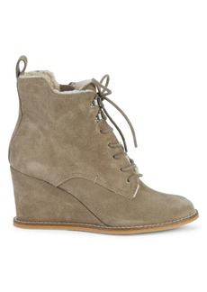 Dolce Vita Gerry Suede & Faux Fur Trim Booties