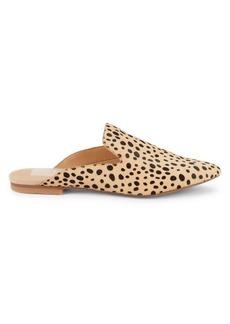 Dolce Vita Gretle Cheetah-Print Calf Hair Mules