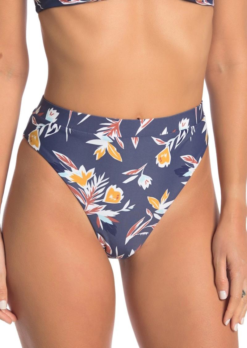 Dolce Vita High Waist High Leg Printed Bikini Bottoms