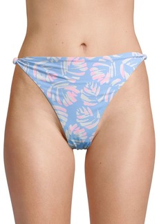 Dolce Vita High-Waist Leaf-Print Bikini Bottom