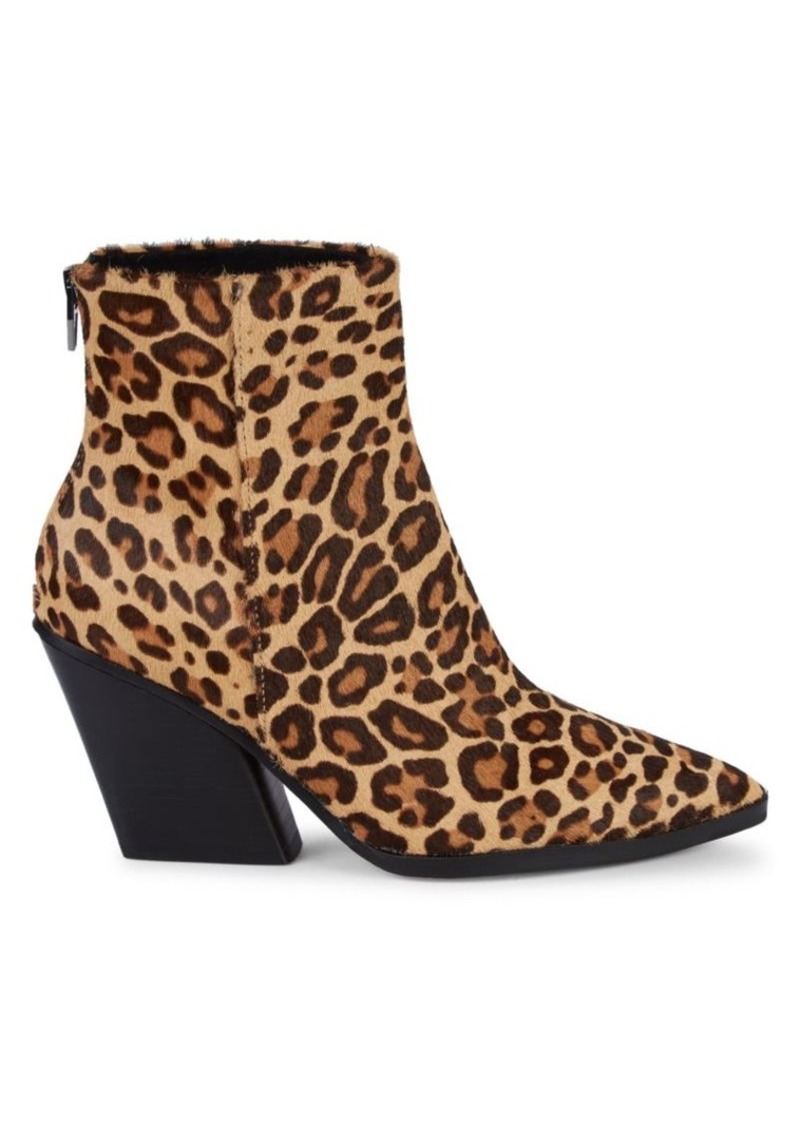 Dolce Vita Issa Leopard-Print Calf Hair Ankle Boots
