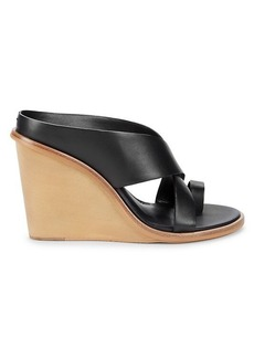 Dolce Vita Jaylyn Wedge Leather Sandals